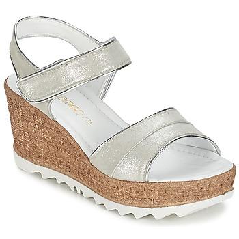 Schuhe Damen Sandalen / Sandaletten Samoa MOJILA Grau / Weiss