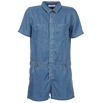 Kleidung Damen Overalls / Latzhosen Teddy Smith CALINCA DENIM LYOCELL Blau