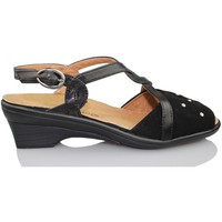 Schuhe Damen Sandalen / Sandaletten Calzamedi orthopädische Sandale Frau SCHWARZ
