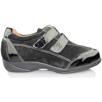 Schuhe Damen Richelieu Calzamedi Therapieschuh Klett SCHWARZ
