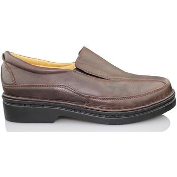 Schuhe Herren Slipper Calzamedi Mann Mokassin SCHWARZ