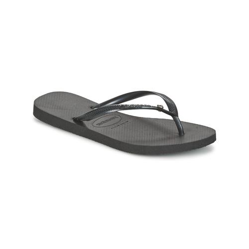 Havaianas SLIM CRYSTAL GLAMOUR SWAROVSKI Schwarz  Schuhe Zehensandalen Damen 33,99