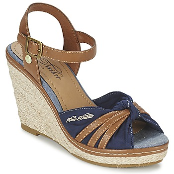 Schuhe Damen Sandalen / Sandaletten Tom Tailor BASTIOL Marine