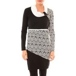 Kleidung Damen Kurze Kleider Bamboo's Fashion Robe Zoulou BW616 blanc Weiss