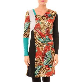 Kleidung Damen Kurze Kleider Bamboo's Fashion Robe Sauvage BW620 noir Schwarz