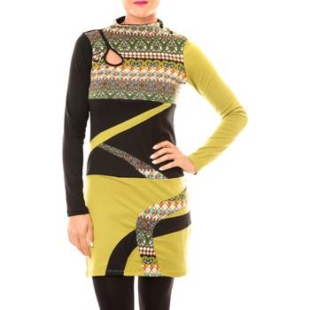 Kleidung Damen Kurze Kleider Bamboo's Fashion Robe Tribal BW622 vert Grün