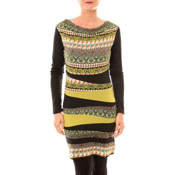 Kleidung Damen Kurze Kleider Bamboo's Fashion Robe BW671 vert Grün