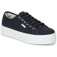 Schuhe Damen Sneaker Low Victoria BLUCHER LONA PLATAFORMA Schwarz