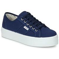 Schuhe Damen Sneaker Low Victoria BLUCHER LONA PLATAFORMA Marine