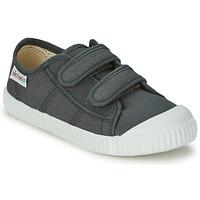 Schuhe Kinder Sneaker Low Victoria BLUCHER LONA DOS VELCROS Anthrazit