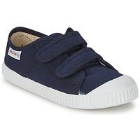 Schuhe Kinder Sneaker Low Victoria BLUCHER LONA DOS VELCROS Marine