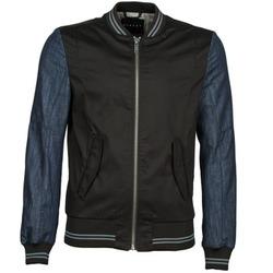 Kleidung Herren Jacken Sisley 2ID2533A9 Schwarz / Blau