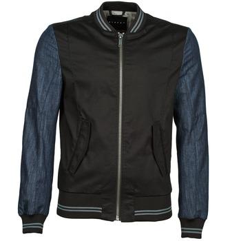 Jacken Sisley 2ID2533A9 Schwarz / Blau 350x350