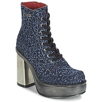 Schuhe Damen Low Boots New Rock BOSTA Blau
