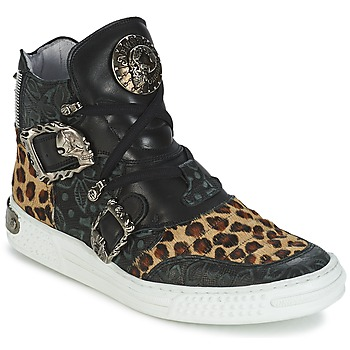 Schuhe Damen Sneaker High New Rock ANTERLO Leopard