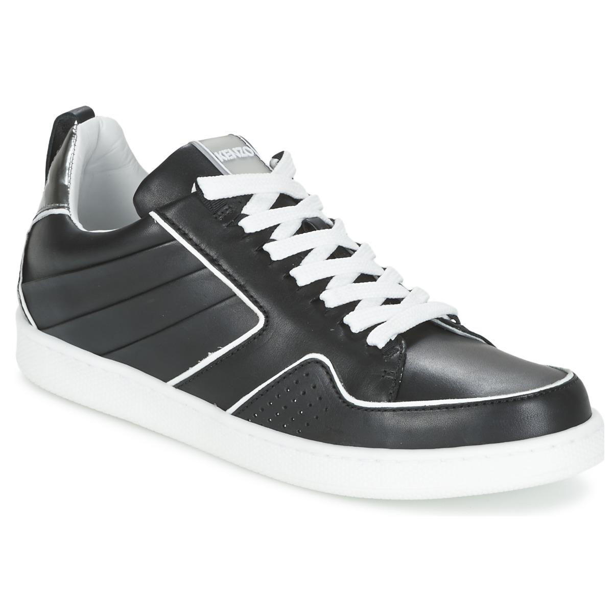 4d984c3fff936f Kenzo K-FLY Schwarz   Silbern - Kostenloser Versand bei Spartoode ! - Schuhe  Sneaker Low Damen 165