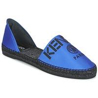 Schuhe Damen Leinen-Pantoletten mit gefloch Kenzo D'ORSAY Blau