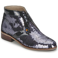 Schuhe Damen Boots C.Petula PEGASE Silbern