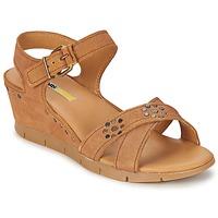 Schuhe Damen Sandalen / Sandaletten Manas  Camel