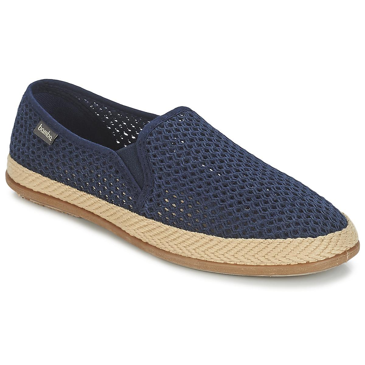 Bamba By Victoria COPETE ELASTICO REJILLA TRENZA Marine - Kostenloser Versand bei Spartoode ! - Schuhe Slip on Herren 33,99 €