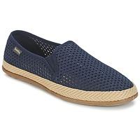 Schuhe Herren Leinen-Pantoletten mit gefloch Bamba By Victoria COPETE ELASTICO REJILLA TRENZA Marine