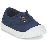 Schuhe Kinder Sneaker Low Victoria INGLESA LONA TINTADA Marine