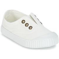 Schuhe Kinder Sneaker Low Victoria INGLESA LONA TINTADA Weiss