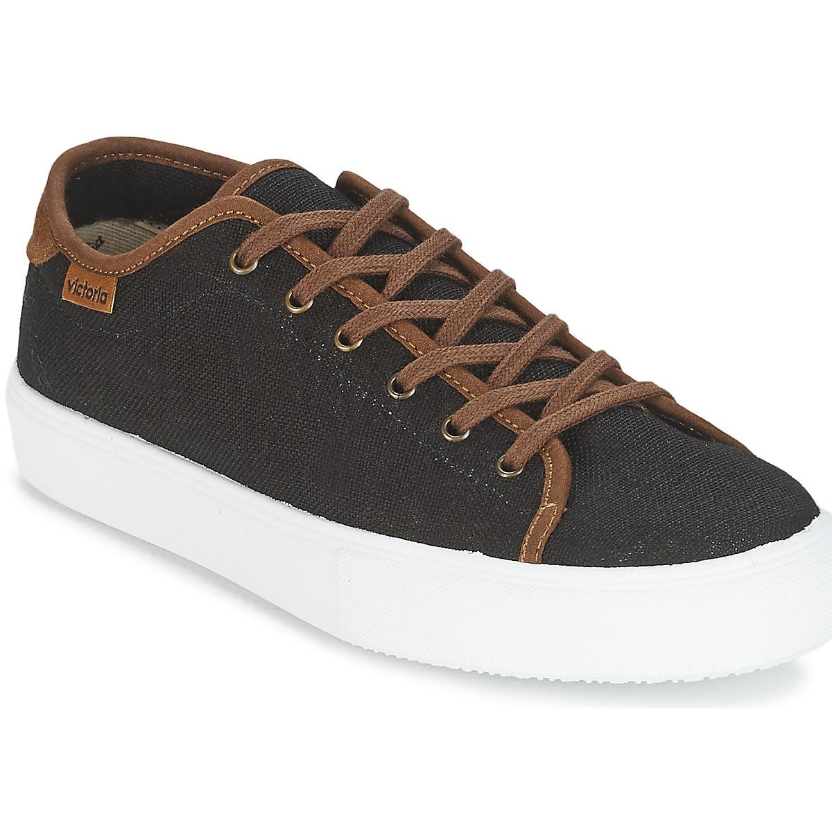 Victoria BASKET LINO DETALLE MARRON Schwarz / Braun - Kostenloser Versand bei Spartoode ! - Schuhe Sneaker Low Herren 35,40 €