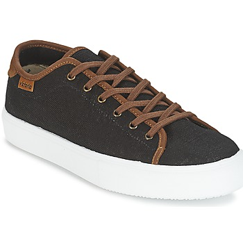 Schuhe Herren Sneaker Low Victoria BASKET LINO DETALLE MARRON Schwarz / Braun