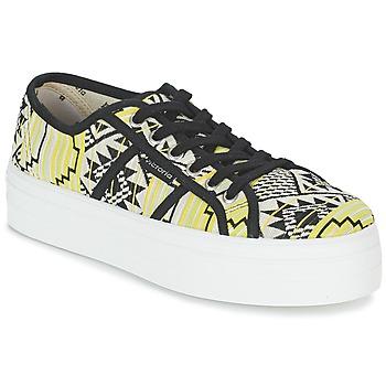Schuhe Damen Sneaker Low Victoria BASKET ETNICO PLATAFORMA Schwarz / Gelb
