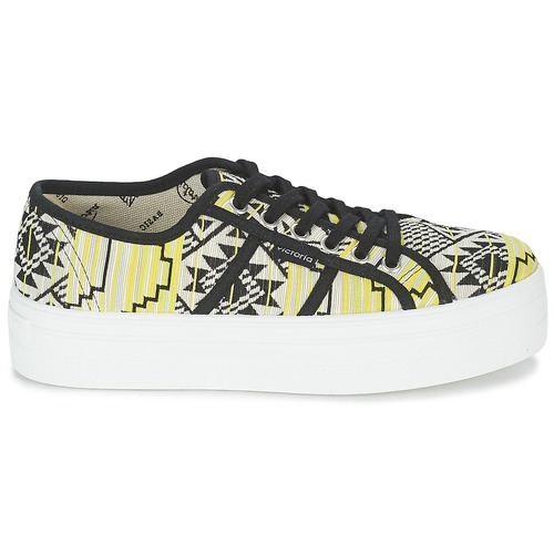 Victoria BASKET ETNICO Gelb PLATAFORMA Schwarz / Gelb ETNICO  Schuhe Sneaker Low Damen 59 f216c9