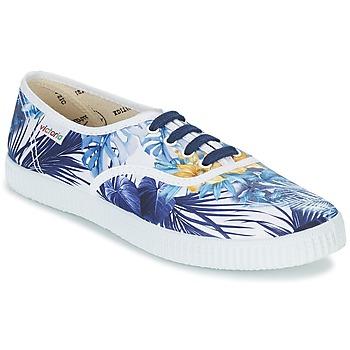 Schuhe Damen Sneaker Low Victoria INGLES FLORES Y CORAZONES Weiss / Blau