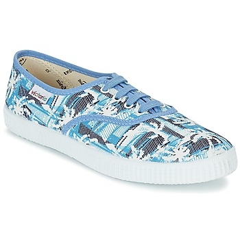 Schuhe Sneaker Low Victoria INGLES PALMERAS Blau