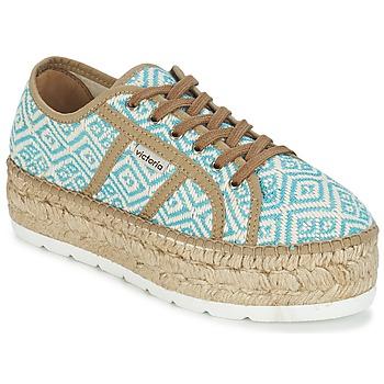 Schuhe Damen Sneaker Low Victoria BASKET ETNICO PLATAFORMA Blau / Beige