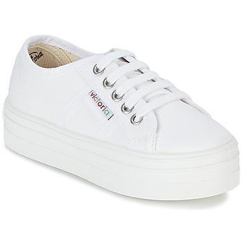 Schuhe Mädchen Sneaker Low Victoria BASKET LONA PLATAFORMA KIDS Weiss