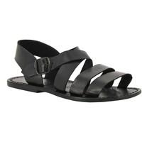Schuhe Damen Sandalen / Sandaletten Gianluca - L'artigiano Del Cuoio 508 U NERO CUOIO nero