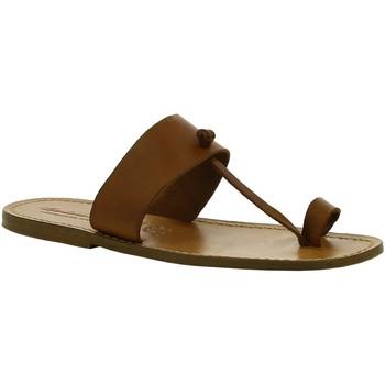 Schuhe Damen Boots Gianluca - L'artigiano Del Cuoio 554 U CUOIO CUOIO Cuoio