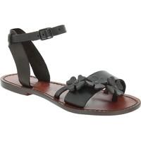 Schuhe Herren Sandalen / Sandaletten Gianluca - L'artigiano Del Cuoio 593 D MORO CUOIO Testa di Moro