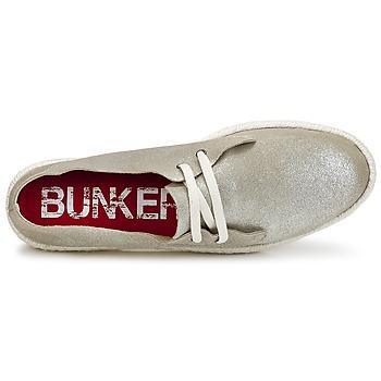 Bunker IBIZA Silbern - Kostenloser Versand |  - Schuhe Leinen-Pantoletten mit gefloch Damen 4899