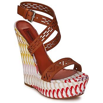 Schuhe Damen Sandalen / Sandaletten Missoni XM015 Braun / Multicolor
