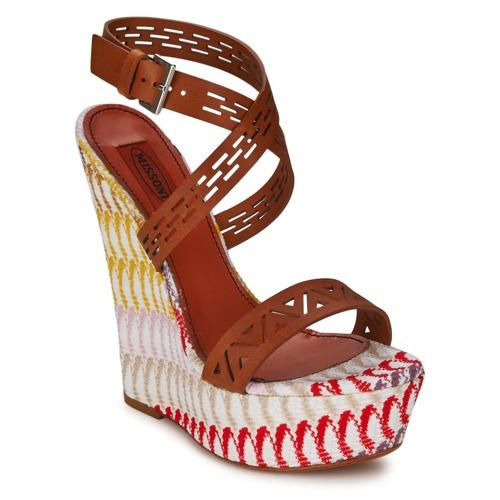 Schuhe Damen Sandalen / Sandaletten Missoni XM015 Braun / Multifarben