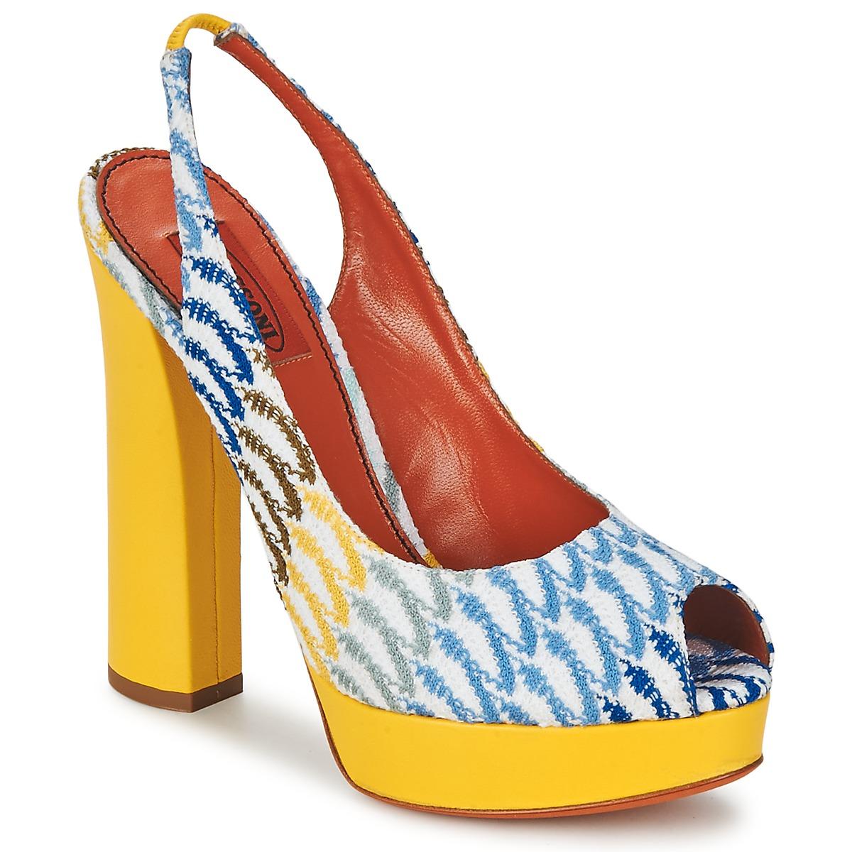 Missoni XM005 Gelb / Blau - Kostenloser Versand bei Spartoode ! - Schuhe Sandalen / Sandaletten Damen 293,40 €