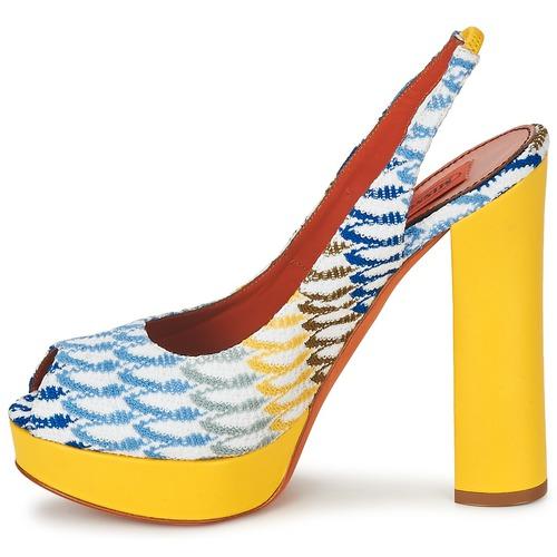 Missoni XM005 Gelb / Blau Schuhe Sandalen / Sandaletten Damen 244,50