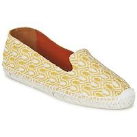 Schuhe Damen Leinen-Pantoletten mit gefloch Missoni XM029 Gelb