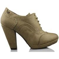 Schuhe Damen Ankle Boots MTNG MUSTANG Beute heels BRAUN