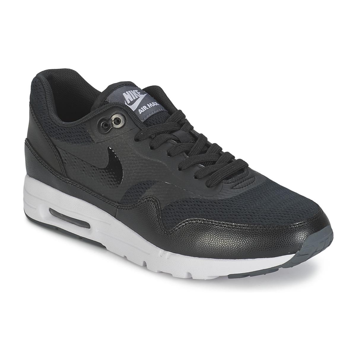 Nike AIR MAX 1 ULTRA ESSENTIAL W Schwarz - Kostenloser Versand bei Spartoode ! - Schuhe Sneaker Low Damen 83,40 €