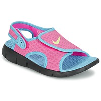 Schuhe Mädchen Sandalen / Sandaletten Nike SUNRAY ADJUST 4 Rose / Blau
