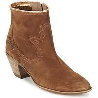 Schuhe Damen Low Boots Spiral HEIDI Braun / Gold