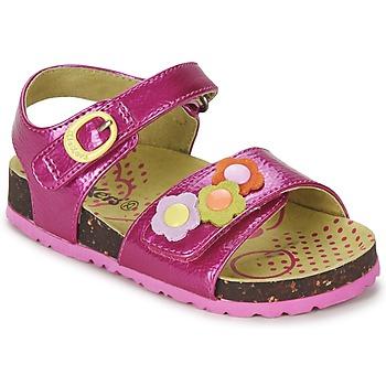 Schuhe Mädchen Sandalen / Sandaletten Kickers MAGIFLOWER Fuchsienrot