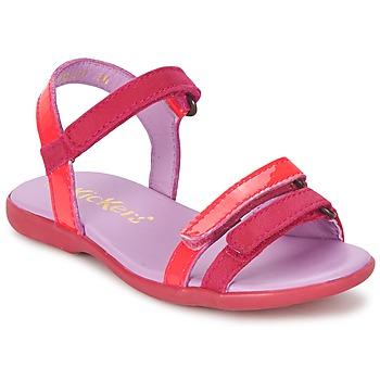 Schuhe Mädchen Sandalen / Sandaletten Kickers ARCENCIEL Fuchsienrot / Rose